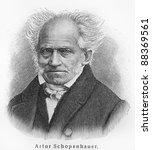 Small photo of Arthur Schopenhauer - Picture from Meyers Lexicon books written in German language. Collection of 21 volumes published between 1905 and 1909.