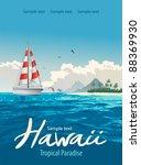 tropical paradise | Shutterstock .eps vector #88369930