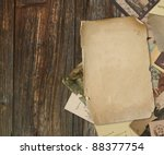 Vintage Background With Old...