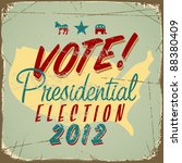 us presidential 2012 election... | Shutterstock .eps vector #88380409