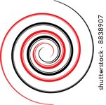 black and red spiral | Shutterstock .eps vector #8838907