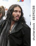 Small photo of LOS ANGELES, CA - NOVEMBER 06: Russell Brand arrives at A Day Of Champions Benefiting the Bogart Pediatric Cancer Research Program at Sports Museum of Los Angeles on November 6, 2011.