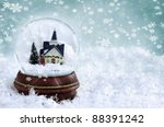Snow Globe With Church And...
