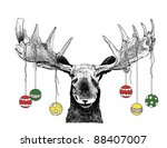 abstract,animal,antlers,art,artistic,artsy,background,balls,big,card,cartoon,christmas,clip,clip-art,clipart