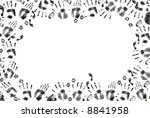 man and beast print border | Shutterstock . vector #8841958