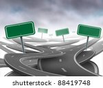 stay on course symbol as a... | Shutterstock . vector #88419748