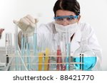 scientist making analysis in a... | Shutterstock . vector #88421770