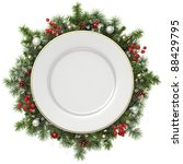Plate In A Christmas Wreath...