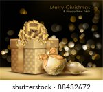 golden christmas background.... | Shutterstock .eps vector #88432672