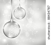 elegant christmas background... | Shutterstock . vector #88434787