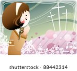 happy christian   religion... | Shutterstock .eps vector #88442314