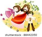 happy christian | Shutterstock .eps vector #88442350