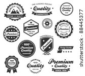 set of vintage retro premium... | Shutterstock .eps vector #88445377