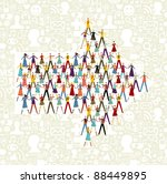 taked by hands people group in... | Shutterstock . vector #88449895