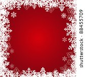 beautiful snowflakes frame.... | Shutterstock .eps vector #88455709