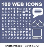 100 web icons set  signs  vector | Shutterstock .eps vector #88456672