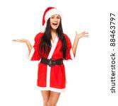 Beautiful Christmas Woman In...