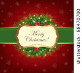 christmas greeting card | Shutterstock . vector #88470700