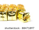 festive gift boxes isolated on... | Shutterstock . vector #88471897