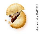 Mince Pie Broken In Half...