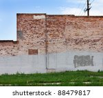 Grungy Red Brick Wall Of An Ol...