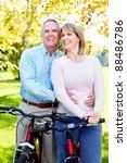 happy senior couple with... | Shutterstock . vector #88486786