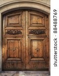 Old Wooden Door With Ornaments