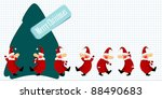 christmas santa claus and a... | Shutterstock . vector #88490683