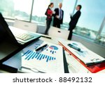 Image Of Business Documents On...