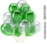 Party Balloon Green White...