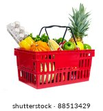 grocery shopping basket with... | Shutterstock . vector #88513429