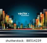 city landscape | Shutterstock .eps vector #88514239