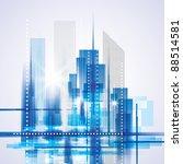 city landscape. raster version.   Shutterstock . vector #88514581