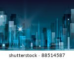 city landscape. raster version. | Shutterstock . vector #88514587