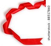 shiny red satin ribbon on white ... | Shutterstock . vector #88517860