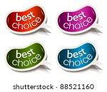 beans bubble speech with best... | Shutterstock . vector #88521160