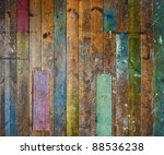 colorful old aged wooden plank... | Shutterstock . vector #88536238