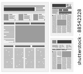 set the number one newspaper.... | Shutterstock .eps vector #88542328