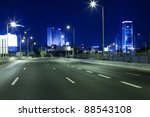 empty freeway at night | Shutterstock . vector #88543108