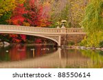 fall colors at bow bridge in...   Shutterstock . vector #88550614