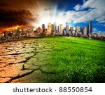 a city showing the effect of... | Shutterstock . vector #88550854