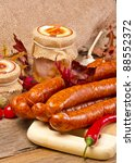 polish sausage  polska  | Shutterstock . vector #88552372