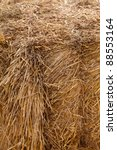 Close up of hay bale - stock photo