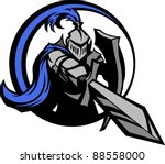 medieval knight wearing armor... | Shutterstock .eps vector #88558000