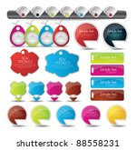 web elements collection | Shutterstock .eps vector #88558231