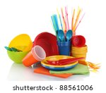 Bright Plastic Tableware And...
