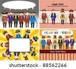 cartoon retro gentleman card... | Shutterstock .eps vector #88562266