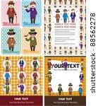 cartoon retro gentleman card... | Shutterstock .eps vector #88562278