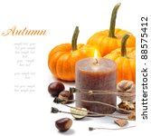 Autumn Still Life With Candle