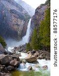 Yosemite Lower Fall In Spring...